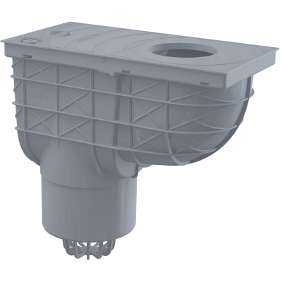 AGV2S Lapač střešních splavenin 300 × 155/125 přímý šedý