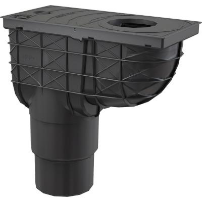 AGV4 Lapač střešních splavenin 300 × 155/125/110 přímý černý