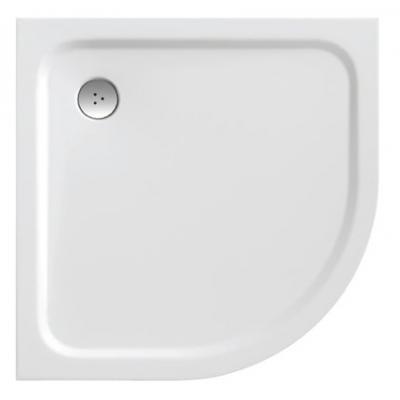 RAVAK ELIPSO PRO 90 CHROME Sprchová vanička čtvrtkruhová 90 cm - bílá