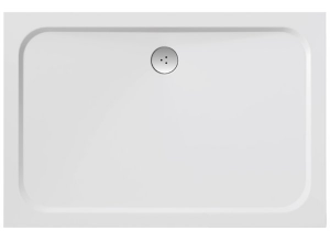 RAVAK GIGANT PRO 80×100 CHROME Sprchová vanička obdelníková - bílá