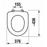 Jika OLYMP 8.9328.2.300.063.1 WC sedátko antibakteriální bez poklopu, ocelové úchyty