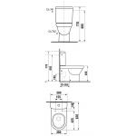 Jika TIGO 8.2421.6.000.231.1 WC kombi mísa kapotovaná ke stěně, odpad Vario