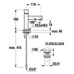 JIKA CUBITO 3.1142.1.004.001.1 Umyvadlová stojánková baterie