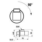 JIKA CUBITO 3.7242.0.004.010.1 Rohový ventil 1/2x3/8  (2 ks)