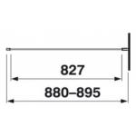 2.9724.2.002.668.1 CUBITO Sprchová pevná stěna 90, transparent