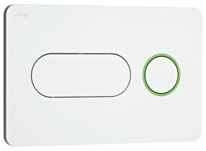 8.9364.6.000.000.1 Tlačítko JIKA PL8 Dual flush bílé, zelený kroužek