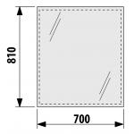 4.5573.1.173.144.1 CLEAR Zrcadlo 70×81cm