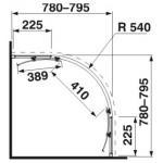 2.5324.1.002.668.1 CUBITO PURE Sprchový kout čtvrtkruh 80, R540, transparent