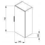 4.5371.1.176.302.1 CUBE Skříňka střední 75 cm