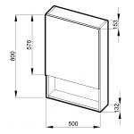 Jika LYRA 4.5323.1.038.304.1 Zrcadlová skříňka 80×50cm