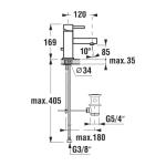 JIKA MIO 3.1171.1.004.001.1 Umyvadlová baterie stojánková s výpustí