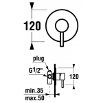 JIKA MIO 3.3071.6.004.000.1 Sprchová podomítková baterie