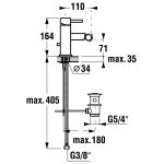JIKA MIO 3.4171.1.004.001.1 Bidetová baterie stojánková s výpustí