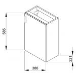 4.5351.1.175.302.1 PETIT Skříňka s umývátkem 40 cm