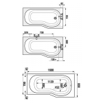Jika TIGO 2.2021.0.000.000.1 Vana asymetrická 160×80cm, pravá