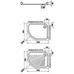 Jika TIGO 8.5221.1.000.000.1 Sprchová vanička keramická 100×80 cm, pravá