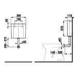 H8937100000001 JIKA Dino Splachovací nádržka pro samostatně stojící klozety