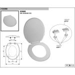 1T-3550N MF WC sedátko - modrá metalíza
