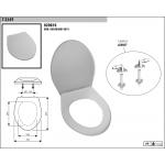 1T-3549 WC sedátko -bílá