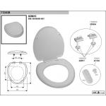 1T-3545B WC sedátko - bílá