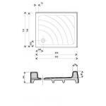 RAVAK ANETA PU Sprchová vanička obdelníková 75×90 cm - bílá
