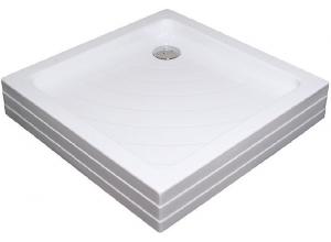 RAVAK ANGELA 90 PU Sprchová vanička čtvercová 90 cm - bílá