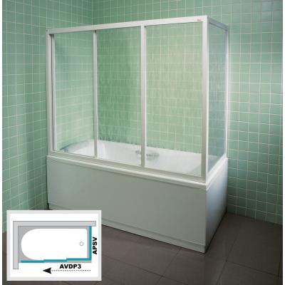 APSV-75 RAIN Pevná stěna vanová 75 cm bílá