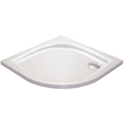 RAVAK ELIPSO 80 LA Sprchová vanička čtvrtkruhová 80 cm - bílá