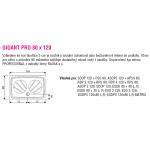 RAVAK GIGANT PRO 80×120 Sprchová vanička obdelníková - bílá