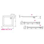 RAVAK PERSEUS 100 EX Sprchová vanička čtvercová 100 cm - bílá