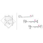 RAVAK RONDA 80 EX Sprchová vanička čtvrtkruhová 80 cm - bílá - Technický nákres