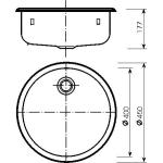 526-UT Norma Dřez nerezový kruhový pr. 400 mm