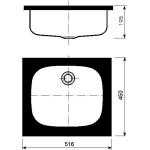 511/UH Dřez nerezový s rámem