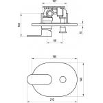 RAVAK CHROME CR 065.00 Podomítková baterie s přepínačem pro R-box