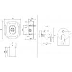 RAVAK NEO NO 065.00 Podomítková baterie s přepínačem pro R-box