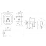 RAVAK NEO NO 066.00 Podomítková baterie bez přepínače pro R-box