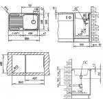 10119056 CLASSIC 1B 1D Dřez nerezový
