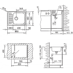 CLASSIC 1B 650x500 TEKA dřez nerezový