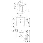 4.5360.1.176.300.1 CUBE Skříňka s umyvadlem 65 cm, s 2 dveřmi