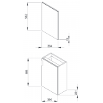 4.5351.2.175.300.1 PETIT Skříňka s umývátkem 40 cm včetně zrcadlové skříňky a osvětlení