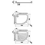 Jika TIGO H8522106000001 Sprchová vanička keramická 100×80 cm, levá