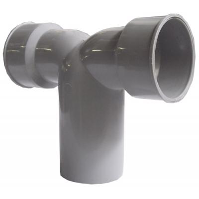 HTDSW-kanalizační dvojité připojovací koleno 90° 40/50/40