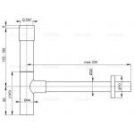 A402 Sifon pro umyvadlo DESING kovový