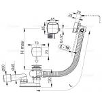 A564CRM2 80 Vanový odtokový komplet snapouštěním přepadem chrom