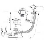 A564CRM3 Vanový odtokový komplet snapouštěním přepadem chrom