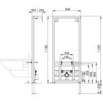 A105/1200 AlcaPlast Montážní rám pro bidet