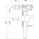 A16 3/8˝ AlcaPlast Napouštěcí ventil boční kovový závit