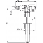 A15P 3/8˝ AlcaPlast Napouštěcí ventil boční