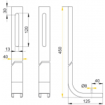 M90 AlcaPlast Podpěry pro modul A100