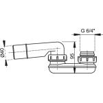 A53/40 AlcaPlast Zápachová uzávěra  pr.40mm